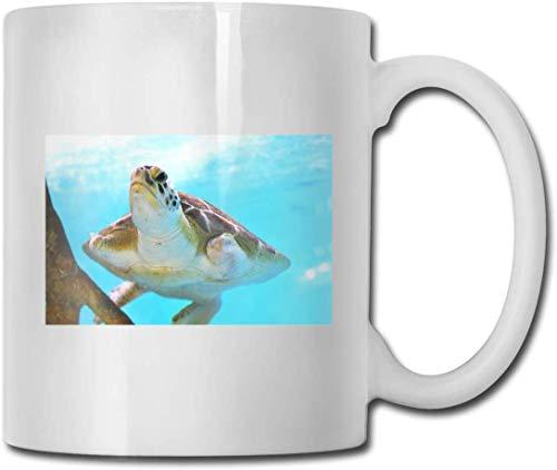 Taza de cerámica con diseño de tortuga de mar