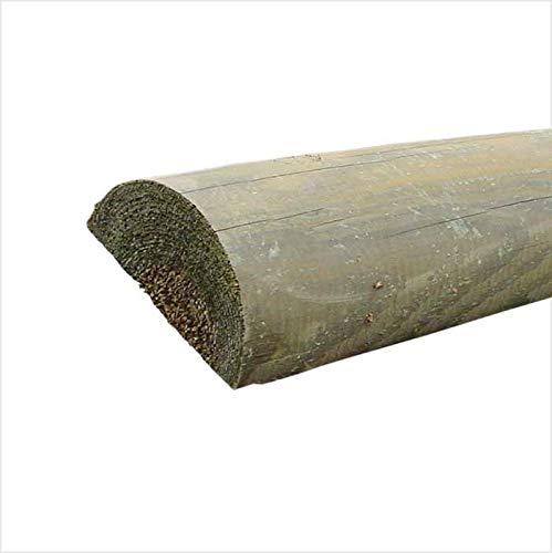 Premium Zaunriegel Ø 9 cm Kiefer imprägniert Queriegel halbrund für Zaunlatten Länge 190 cm