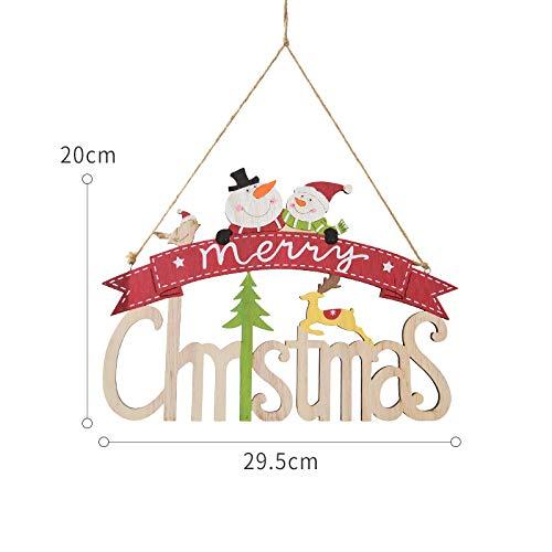 prbll Briefkarten Aus Holz, Christbaumschmuck, Elch, Alter Mann, Weihnachtsschmuck, Ca. 70G 20 * 29.5Cm Vogel Weihnachtsbaum / 90G