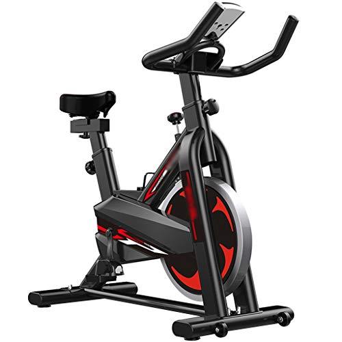 Bicicletas estáticas ajustable silenciosa,Bicic de spinning para gimnasio,Bicicleta de ejercicio para adelgazar con reloj electrónico,Puede soportar 120 kg ( Color : Black , Size : 110*40*108cm )