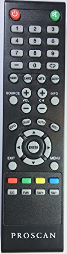 USARMT Replaced Proscan TV Remote for RLDED3258A-F RLDED3258AF RLDED5099 RLDED5099-UHD PLDED5068AD PLDED5068A-D PLDED5066A-B PLDED3273A-E PLDED3996A-E PLED5529A-G Pledv3282a Pled2243a-I PLDED5066A