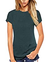 Beluring Tops Short Sleeve Summer Shirts Tunic Top for Women (L,Army Green)