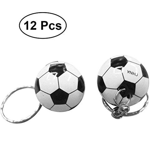 STOBOK Llaveros Mini fútbol Partido Llavero Deportes fanáticos del fútbol Recuerdo 2018 Copa del Mundo Ventilador de fútbol Partido Favor 12 unids