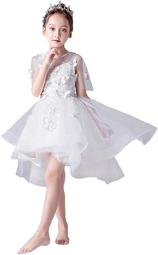 Eliza Jupe à Queue Courte, Robes de Demoiselle d'honneur matelassées et décorées de Papillons et de Fleurs.Union, Mariage, Concours de beauté, Anniversaire, soirée dansante.