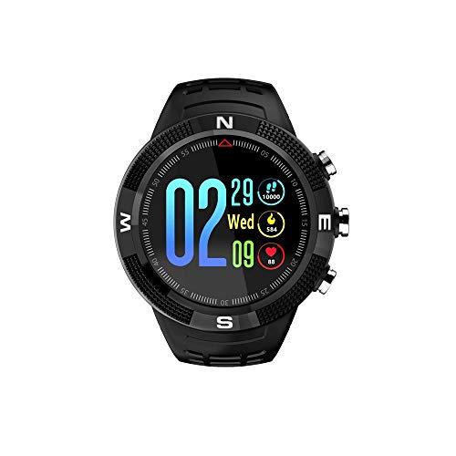 BCGTIK Nieuwe Multifunctionele Smart Armband 1.3 Bolvormig Scherm Mode Sport Horloge Onafhankelijke GPS Record Lange Standby Diepe Waterdichte Fitness Horloge Gezondheid Monitoring Business Elektronisch Horloge Zwart