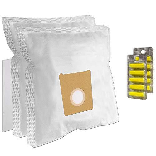 PakTrade Set 10 Staubsaugerbeutel + 10 Duft + Filter für Constructa VC6C1600/03 - Conti VC 703 Talento 2040 - De Sina VC 202 / VC202 - Efbe Schott Sharky - Entronic VC 201 / VC201