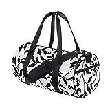 PONIKUCY Sporttasche Reisetasche, Vektor Ivy Pattern Swatch wiederholen enthalten,mit Schuhfach...