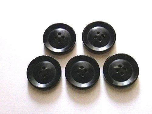 本水牛ボタン ��620-1 黒 (25mm 5個セット)