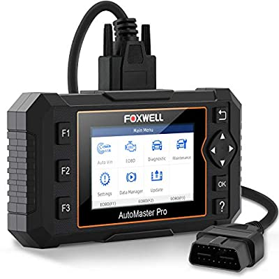 FOXWELL OBD2 Scanner NT624E All Systems Diagnostic Scan Tool, Check Engine ABS Airbag Oil EPB EPS BCM HVAC Suspension Headlamp Codes and Service Light for 58 Car Makes + TPMS Tool EL-50448