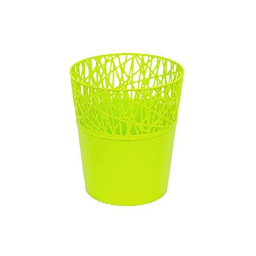 Prosper Plast Dcit140–389u 13.5 x 15.5 cm City Pot à Fleurs Vert Citron