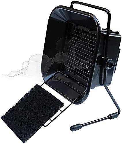 WXFCAS 30W Absorbador de humo, extractor de humo de soldadura, instrumento de fumar soldador, 220V Bajo ruido, ajuste de ángulo de perilla con filtro de carbón activado Algodón para PCB DIY Tr