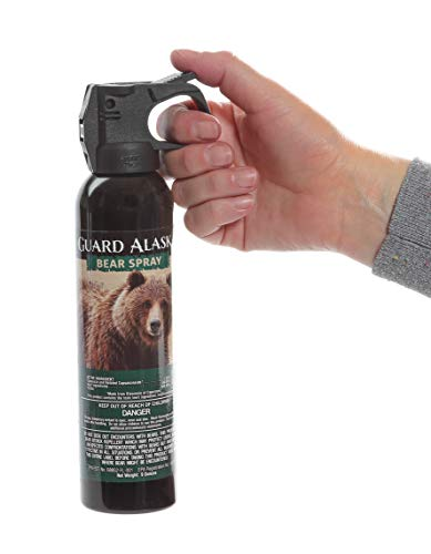Personal Security Products Guard Alaska Maximum Strength Bear Spray by Mace Brand – Accurate 25' Powerful Pepper Spray, – Great for Self-Defense When Hiking, Camping, and Other Outdoor Activities, green, 260 gram (153)