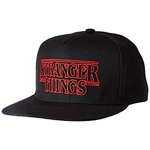 Stranger Things Officially Licensed Hats Snapback Baseball Cap Hat Black