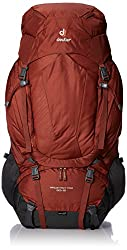 Deuter AirContact Pro 60 + 15 - Trekking Backpack with Daypack, Lava/Anthracite