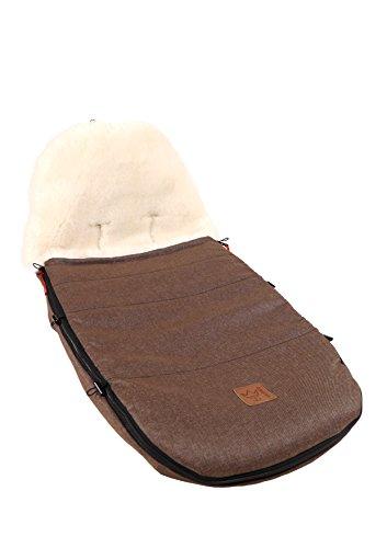 Kaiser 6512175 Kinderwagenfußsack passend für Bugaboo und Joolz, braun melange