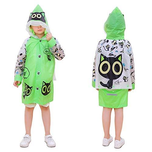 Preisvergleich Produktbild Lachi Regenponcho Kinder Regenjacke Regenmantel Wasserdicht Schule Rucksack mit Kapuze Cartoon Mädchen Junge