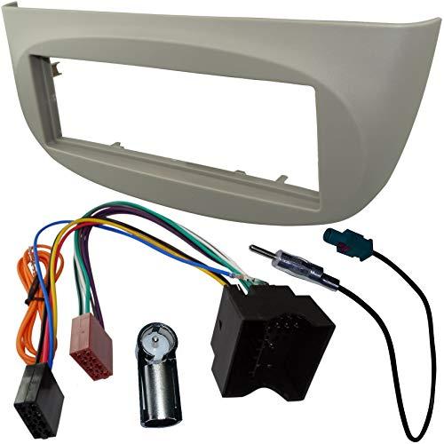 AERZETIX - Adaptateur Façade Cadre Réducteur Kit - 1DIN - Moulage Cache en Plastique pour remplacer Changer Monter autoradio d'origine par Radio Standard de Voiture Auto - C2779B