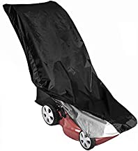 MillyShine Lawnmower Cover for Push Mower Lawn Mower Covers Waterproof Outdoor Storage Shed Bag Cover for Lawn Mower Self Propelled Tarp Universal Fit (Black)
