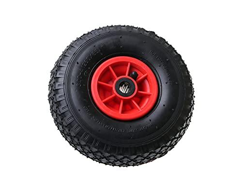Bollerwagenrad | nur für 20 mm Achsen | Ersatzrad Reifen Sackkarre | Sackkarrenrad Luftreifen I 3.00-4 /260x85