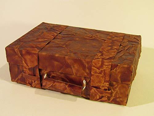 Geschenkverpackung Koffer aus Lederpapier, klein