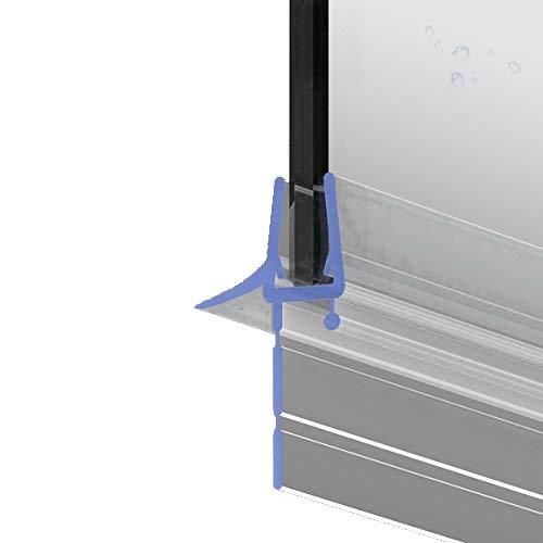 80cm M24 - Ersatzdichtung für 5mm/6mm/ 7mm/ 8mm Glasdicke Wasserabweiser Duschdichtung Schwallschutz Duschkabine