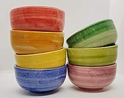 n.1 Ciotola Tazza Ceramica Realizzata e dipinta a mano Le Ceramiche del Castello Made in Italy dimensioni 12,5 x 12,5 x...