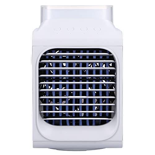 Condizionatore D'aria Portatile, Mini Condizionatore D'aria Personale Oscillazione di 90° con Luci Colorate, Maniglia Portatile, Adatto per Dormitori Interni per L'ufficio Domestico, Serbatoio Dell'ac