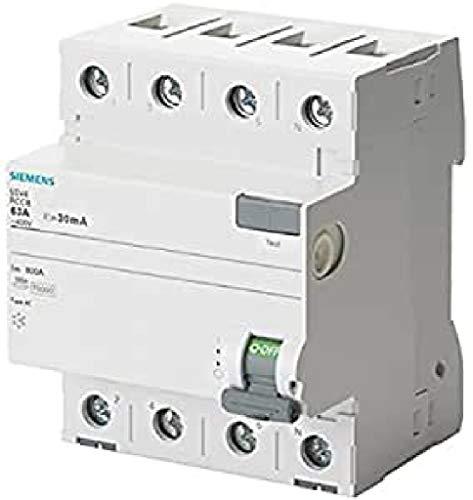 Siemens 5sv - Interruptor diferencial clase-ac 4 polos 63a 300ma 70mm