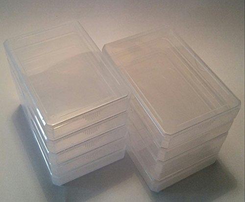 Größe: Normal für Skat-, Quartettkarten etc. / Zubehör 10 Stück x Leeretui Leerbox Leercover Leerhülle Kunststoffbox Ersatzcover Ersatzhülle für Quartette Kartenspiele Spielkarten