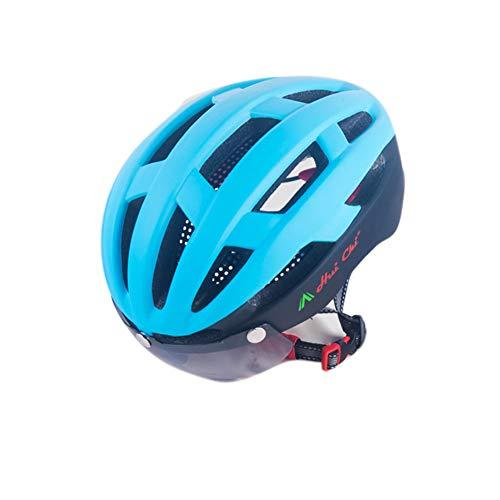 Fahrradhelm für Damen und Herren magnetische Brille Road Mountainbike Helm Radkappe Ausrüstung, 2, 57