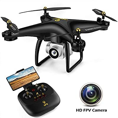 GPS Drone, JJRC H68G RC Drone with 720P HD Camera Live Video 120° Wide-Angle 5G WiFi Quadcopter with 980ft Control Distances, Follow Me, Altitude Hold Headless Mode 3D Flips RTF with 2 Modular Batteri