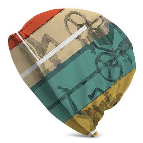 Vintage S Triatlón Patrón Invierno Sombreros Calientes Regalos para Hombres y Mujeres