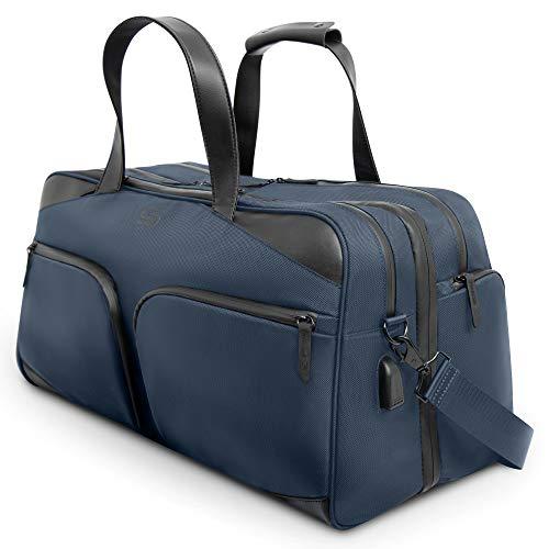 Sterkmann Carry On - Bolsa de Viaje Grande con 19 Compartimentos para Hombres y Mujeres,...