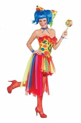 Forum Novelties Women's Circus Sweetie Adult Pippi Polka Dot Clown tutu Costume