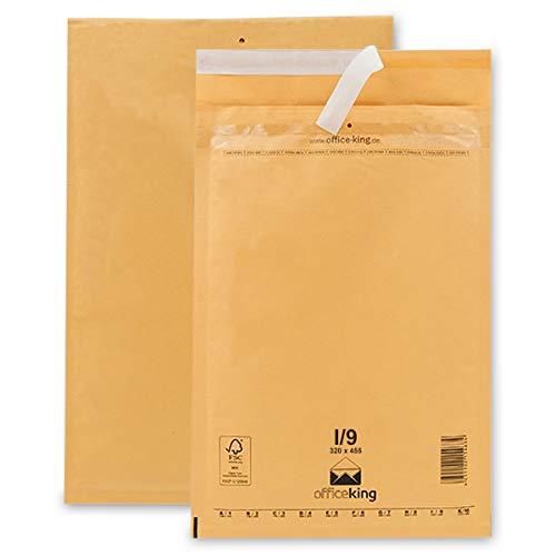 Verpacking 50 Luftpolsterumschläge I9 braun 320x455mm DIN A3 Luftpolster Verpackung Polsterumschläge Briefumschläge gepolstert