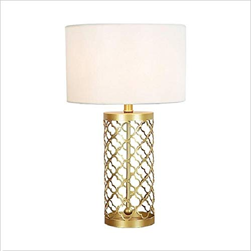 Zaklamp Vintage Gold ijzeren kooi Living Room Study Slaapkamer Bedside Light LED tafellamp Eye-Care Desk Lamp Task Light for Room