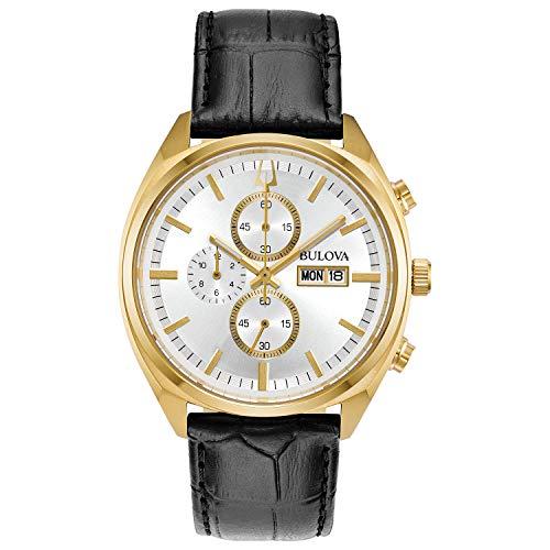 Bulova Reloj Cronógrafo para Hombre de Cuarzo con Correa en Cuero 97C108