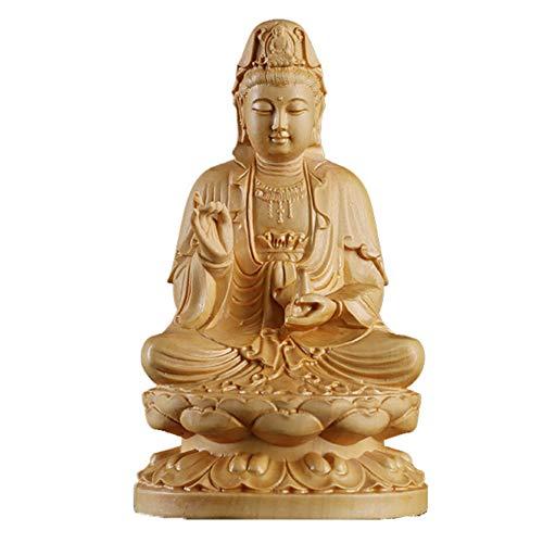 J.Mmiyi Statue Figur Kuan Yin Auf Lotus Meditation Bete Skulptur Göttin Der Barmherzigkeit Ornamente Dekoration Geschenk,Large
