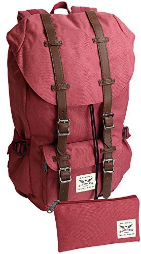 Grote rugzak met 15 inch laptopvak bekleed - veel opbergruimte - voor school, trekking, reizen.