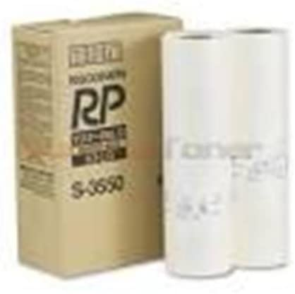Genuine Riso S-3550 Duplicator Masters for Risograph RP 08LG RP3700 RP3790 Printers Box of 2