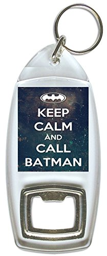 Pukka Printing Keep Calm and Call Batman – Flaschenöffner Schlüsselring