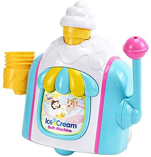 Big Bargain Store Jouets pour Le Bain pour bébé Bulle à thème de crème glacée Jouet Usine de cône en Mousse Jouet de Bain pour bébé Cadeau pour 18M et 2 Gar?ons et Filles de 3 et 4 Ans Jouets pour
