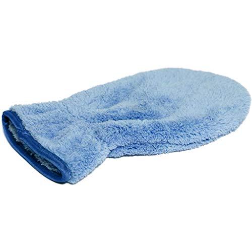 Cleanfaser® Flauschi Mikrofaser Reinigungshandschuh, Staubmagnet für Haus (blau) - Waschhandschuh zum Auto waschen