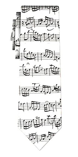 Cravate bach notes white