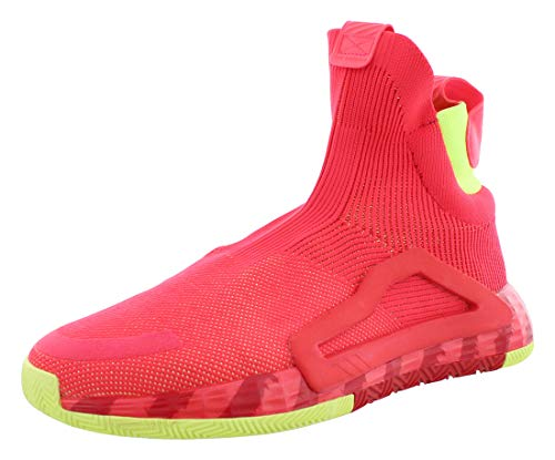 adidas N3XT L3V3L Shoe - Men's Basketball Shock Red/Scarlet/Yellow