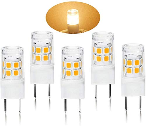 G8 LED Light Bulb 2.5 Watts Warm White - G8 Base Bi-pin Xenon JCD Type LED 120V 20W Halogen Replacement Bulb for Under Counter Kitchen Lighting, Under-Cabinet Light.Pack of 5 (Warm White)