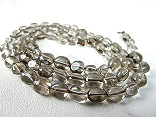 Jewel Beads Natural Beautiful jewellery smoky quartz smooth nuggets/7x6mm/15 inch strandCode:- JBB-49129