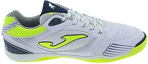 Joma Dribling Indoor/Futsal Soccer Shoe (11.5, White/Fluo Yellow)