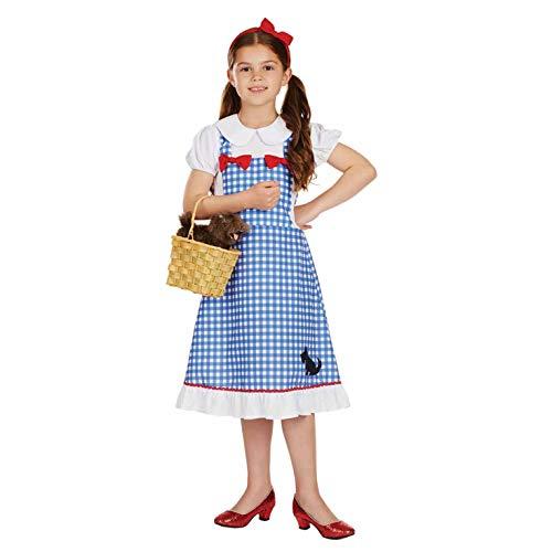 Fun Shack Disfraz clsico de Dorothy para nia. Conjunto Tradicional con Vestido del Mago de Oz, Talla L