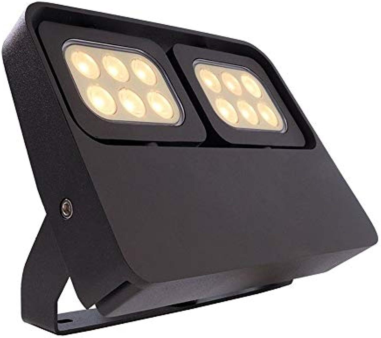 LED Boden- Wand- Deckenleuchte FLOOD FLEX II, 12W, 100-240V, 3000K, IP65, anthrazit EEK  A+